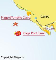 Plage d'Arnette Carro à La Couronne