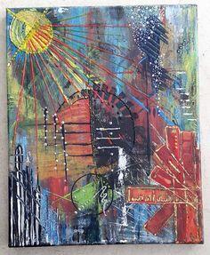 Leinwand Acrylbild 30 x 24 x 17 Intuitive Malerei von BeGehrLich