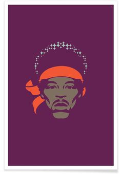 Jimi Hendrix by Bruno Morphet at www.juniqe.com