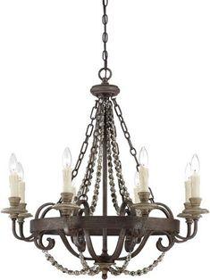 Savoy House Mallory Chandelier Wood Bead Chandelier, Luxury Chandelier, Bronze Chandelier, 5 Light Chandelier, Transitional Chandeliers, Transitional Lighting, Wall Sconce Lighting, Home Lighting, Lighting Ideas