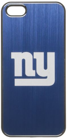 NFL New York Giants iPhone 5/5S Etched Case. Soft rubberized outer finish to improve grip. Officially licensed MLB product. Brushed metal insert. Laser etched team logo. Case weighs less than an ounce.