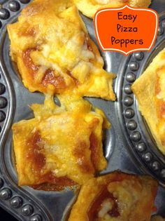 Easy Homemade Pizza Poppers made with our Flutes & Pearls Egg tray!