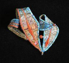 Textile Brooch (B1055) by WaiYuk, via Flickr