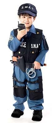 SWAT POLICE COSTUME 4T - LOVE THIS FOR MY LIL FELLA :)