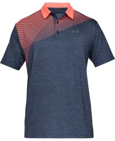 Under Armour Men's Shoulder Striped Playoff Polo - Blue XL Camisa Polo, What To Wear Today, How To Wear, Man Dressing Style, Stylish Mens Fashion, Sporty Look, Golf Shirts, Dart Shirts, Under Armour Men