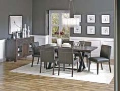 Gray Room With Wainscoting Decorating Kitchen Dining