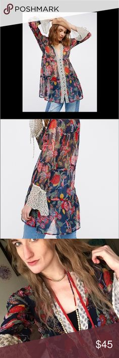 Free People Thunder Canyon tunic XS Third photo is of me! Only worn once! No trades. 😄 Free People Tops Tunics