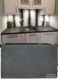 Want A Unique Countertop Surface This Kitchen Features Black Absolute Granite In