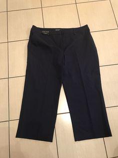 b67db52a846 Ladies Navy Dressy Look Slim Leg Cropped Style Trousers Size 20 Next BNWT   fashion
