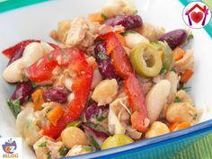 Questa gustosissima insalata di legumi messicana vi stupirà con il suo sapore!