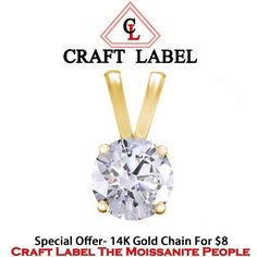"""1/2Ct Or 0.50 Ct Real 10K Yellow Gold Solitaire Pendant Without Chain """"Mother\'s Day Gift"""". Starting at $1"""