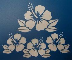 Scrapbooking - STENCILS TEMPLATES MASKS Sheet - Hibiscus Stencil                                                                                                                                                                                 More