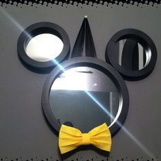Melanie, make this for the kid's Mickey bathroom!  Just find a different way to hang it.