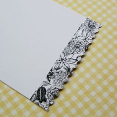 washi tape post- Scrapbook & Cards Today blog. Love the idea of putting tape on the edge of the paper and punching with a border punch!