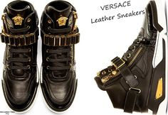 VERSACE Men's Sneakers with Gold Metal Details | 2015 Collection Online | Givenchy, Saint Laurent, Giuseppe Zanotti, Balmain | SPENT MY DOLLARS | 2015 Fashion,Shoes,Bags