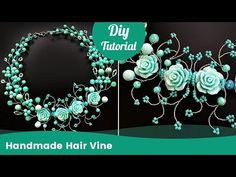 Hair Accessory Ideas. Handmade DIY Hair Vine from Beads and Wire - YouTube