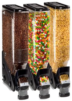 Clear Bulk Food Dispenser - Black Accented 5 Gallon Container -for cereal and snacks