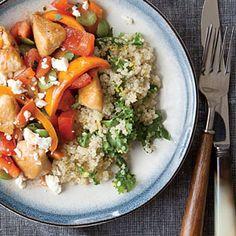 Lemony Kale Quinoa Recipe   MyRecipes.com #protein #wholegrain #veggies