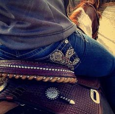 This jeans,love the jeans just not the scratches on the saddle.