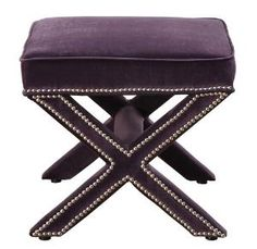 $163 Tov Furniture TOV-O17-Purple Reese Purple Velvet Ottoman from UnbeatableSale at SHOP.COM