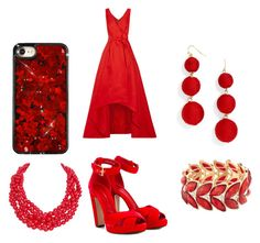 Dancin In red by taylorevans457 on Polyvore featuring polyvore, fashion, style, Oscar de la Renta, Alexander McQueen, BaubleBar, Humble Chic, Avenue and clothing