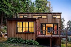 Even though this isn't a tiny house I still thought you'd enjoy this 840 sq. ft. modern and rustic cabin in the redwoods. And the best part is that this particular one was designed and …...