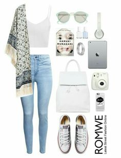 Maillot de bain : / White Top Printed Cardigan summer outfits - New Hair Style Fashion Mode, Look Fashion, Teen Fashion, Fashion Outfits, Womens Fashion, Fashion Clothes, Korean Fashion, Junior Fashion, Fashion Hacks