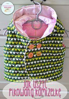 jak uszyć pikowaną kamizelkę/ how to sew warm baby vest pattern