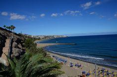 Beautiful beach of Playa del Ingles, Gran Canaria