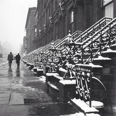 Steps in Snow 1955 © Photo by Vivian Maier