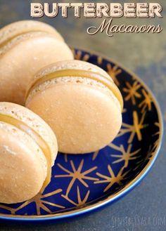Butterbeer Macarons Recipe   SensiblySara.com