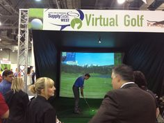Virtual golf to take a break during the show!
