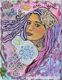 Jessica Sporn - Journal Art Mixed Media Faces, Mixed Media Collage, Collage Art, Art Journal Inspiration, Journal Ideas, The Secret Book, Handmade Books, Journal Art, Art Journals