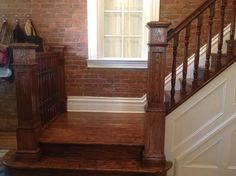 Brazilian Cherry Stairs With White Risers Solid Oak