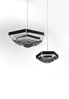 Bruno Munari; Aluminum and Metal Ceiling Lights for Danese, 1959.
