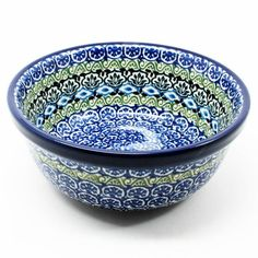 """2 3/4"""" x 6 1/4"""" - Quality 1 Guaranteed from the renowned Ceramika Artystyczna Boleslawiec - Polish Pottery is Oven, Microwave, and Dishwasher Safe! - Hand Painted and Stamped by Highly Skilled Artisan"""