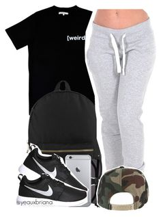 """""""•"""" by yeauxbriana ❤ liked on Polyvore featuring Illustrated People, Herschel Supply Co., Yves Saint Laurent, NIKE, women's clothing, women, female, woman, misses and juniors"""