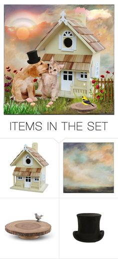 """""""lovely pets"""" by ninigreen ❤ liked on Polyvore featuring art"""