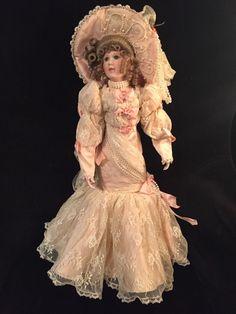 "MARYSE NICOLE Franklin Mint Heirloom Marguerite Doll porcelain 19"" Victorian  #Dolls"