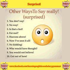 other ways to say surpised  - learning English basics