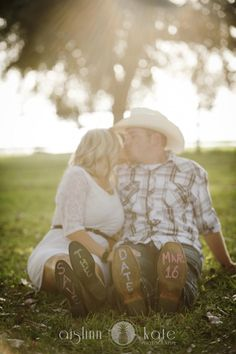 save the dates, rustic engagement, farm engagement , cowboy boots (Pensacola Wedding Photographer)