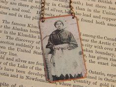 Black History - Harriet Powers Quilter, necklace