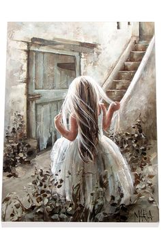 Original Fine Art Painting by Maria Magdalena Oosthuizen. Painting & Drawing, Watercolor Paintings, Art Paintings, Image Foto, Urbane Kunst, Painting People, Foto Art, Pics Art, Pretty Art