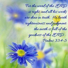 Psalms 33:4-5