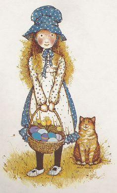 I loved Holly Hobbie when I was a little girl Holly Hobbie, Hobbies For Couples, Hobbies To Try, She And Her Cat, Hobby Room, Hobby Lobby, Hobby Horse, Pics Art, Illustrations