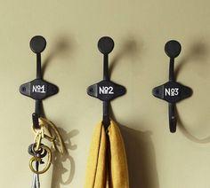 Schoolhouse Numbered Hooks