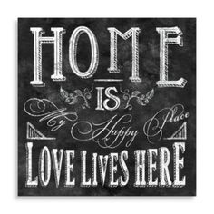 Home Is My Happy Place Wall Art - BedBathandBeyond.com
