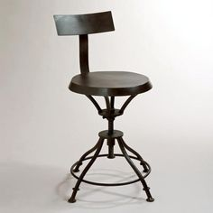 Chase Stool with Removable Back...a magazine said it adjusts from 19-24 inches tall.