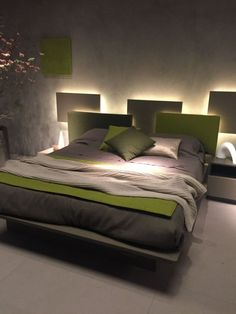 Best creative diy headboard ideas with lights for your bedroom 40