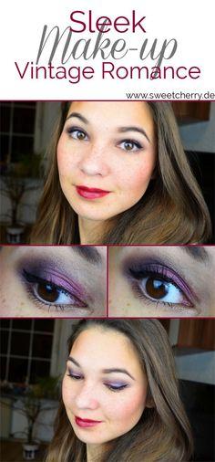 Ein lila-beeriges Augenmake-up für braune Augen mit Sleek Vintage Romance Palette.